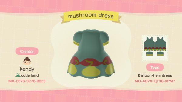 Animal Crossing custom design mushrooms