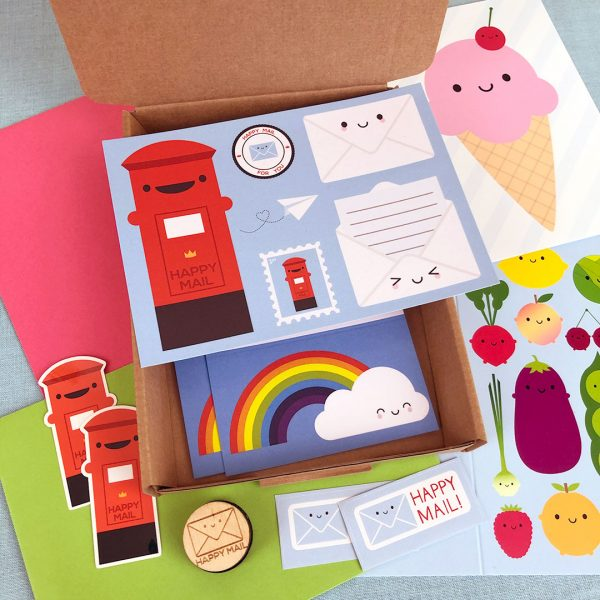 happy mail kawaii stationery