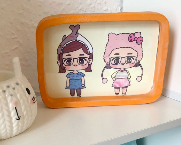 kawaii custom portrait - Little Miss Paintrbrush