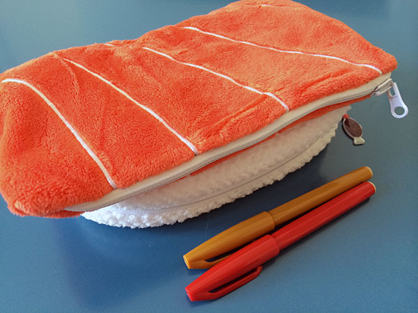sushi pencil case
