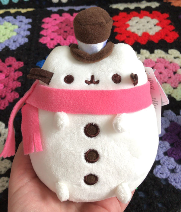 Pusheen plush snowman