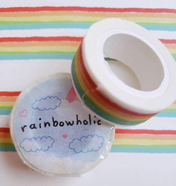 rainbow kawaii washi tape
