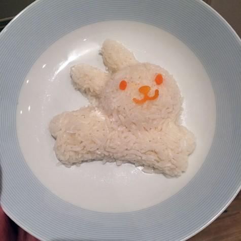 bunny shaped rice