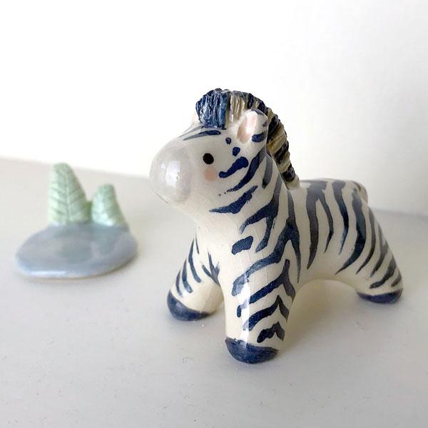 Ceramic Animals By The Star and Heart Studio - zebra