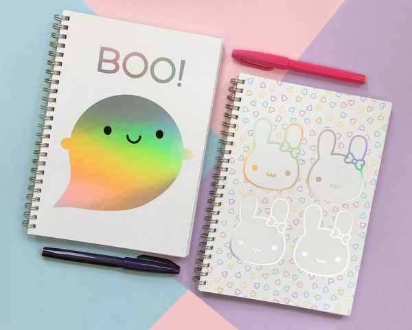 kawaii rainbow foil notebooks