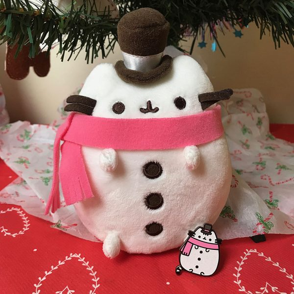 Snowsheen Pusheen plush and enamel pin