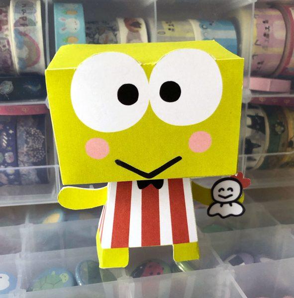 3D Keroppi paper toy