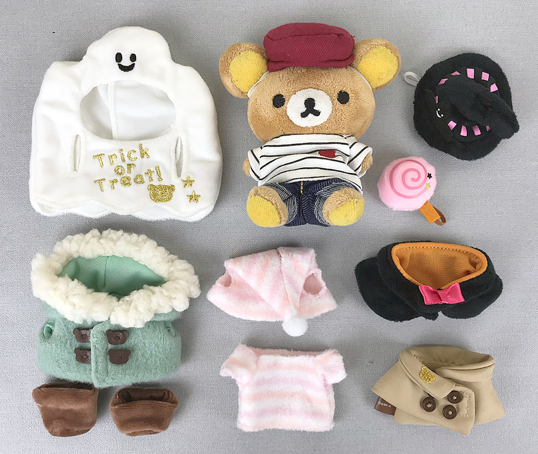 Rilakkuma dress up plush outfits