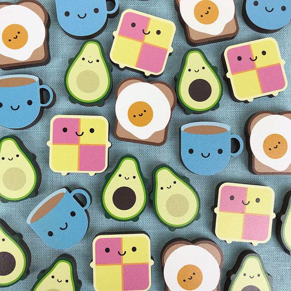 kawaii food pins