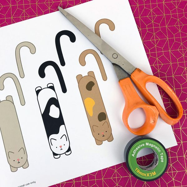 DIY kawaii magnetic bookmarks