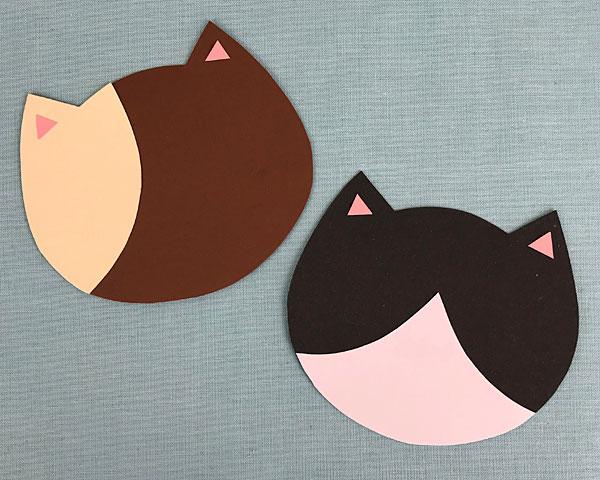 kawaii cats paper craft tutorial