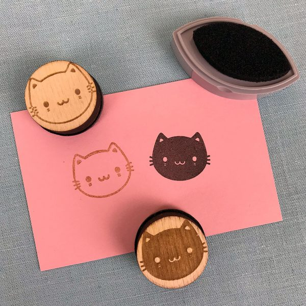 kawaii cats rubber stamps