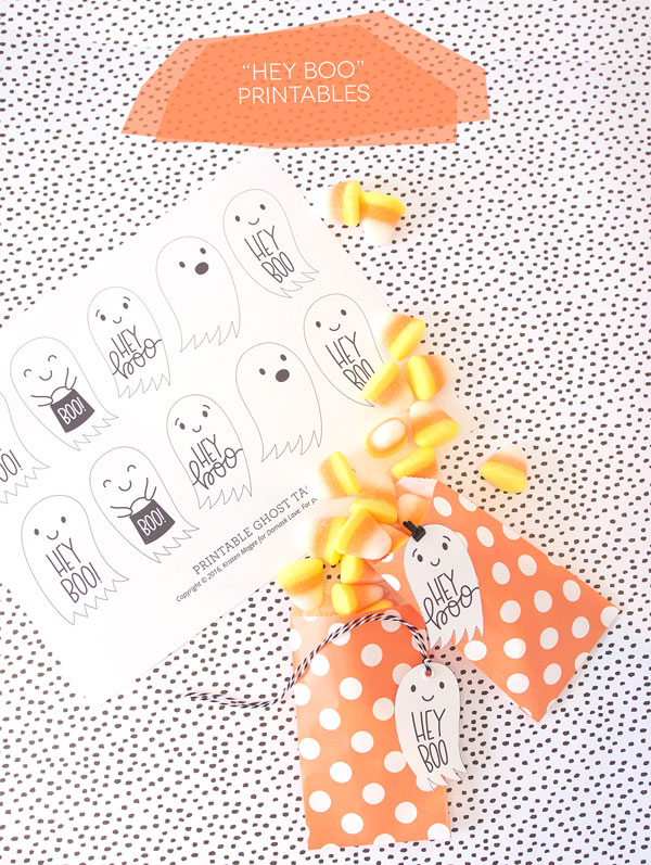 Halloween crafts - ghost printable tags