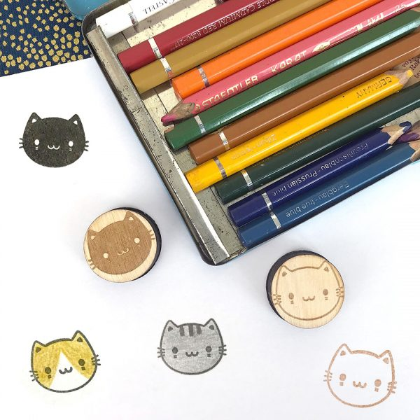 kawaii cat rubber stamps