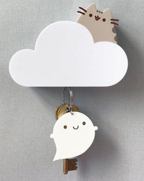 Pusheen Box - magnetic key holder
