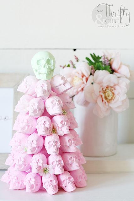 DIY Pastel skull tree Halloween Decorations