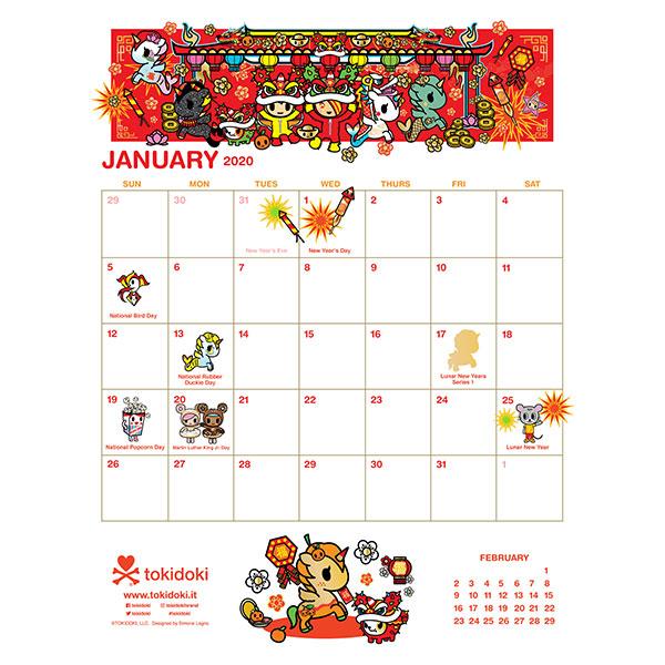 Free 2020 Printable Calendars - tokidoki