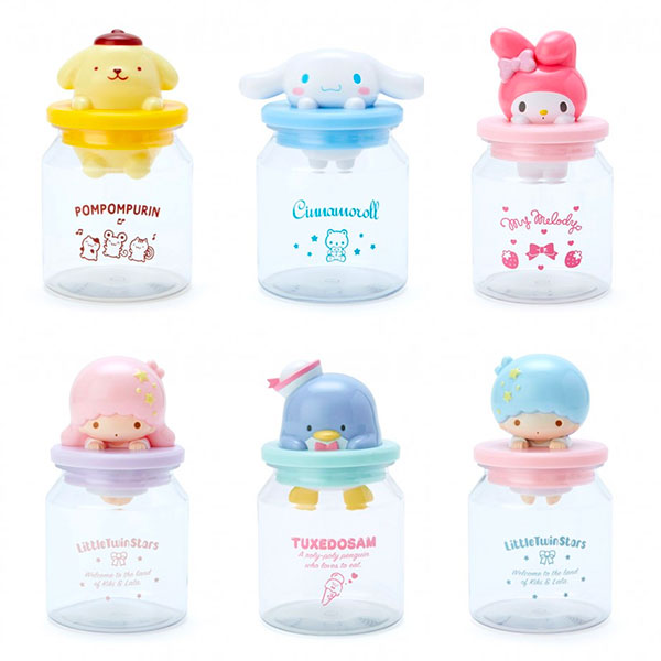 sanrio kawaii candy jars