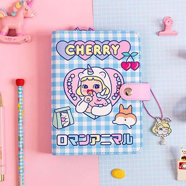 photo regarding Diy Planner Organizer identify Kawaii-Do-it-yourself-Program-Binder-Laptop-A6-Korean-Spiral-Diary