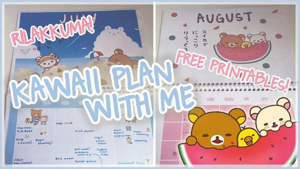 kawaii printable planner layouts