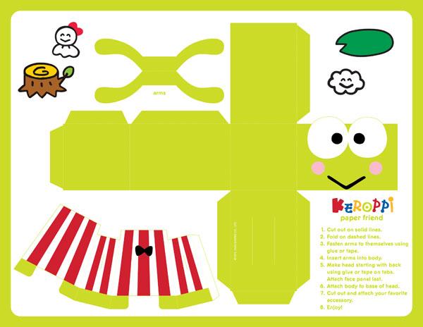 3D Keroppi paper craft