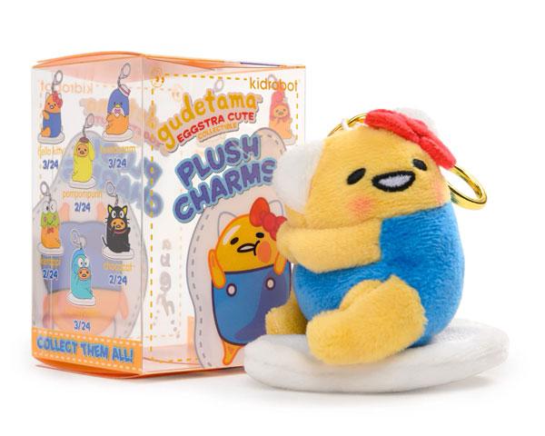 Gudetama Plush Charms From Kidrobot x Sanrio