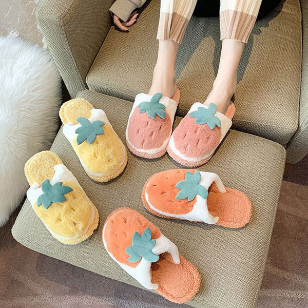 strawberry slippers