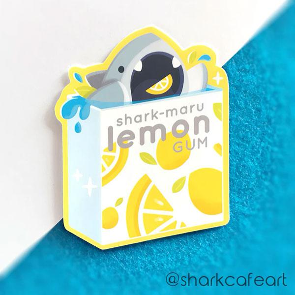 kawaii sharks stickers