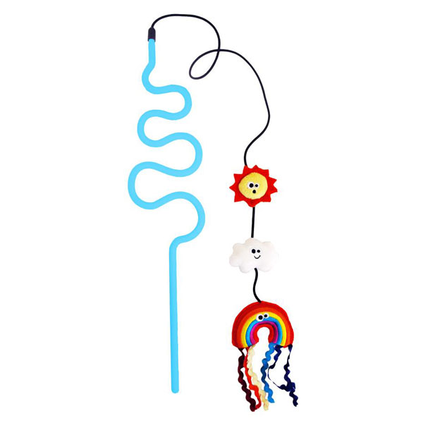 Cat toy rainbow wand