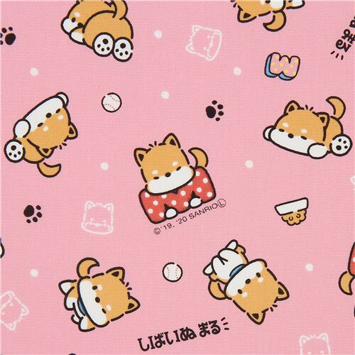 Kawaii Dogs fabric