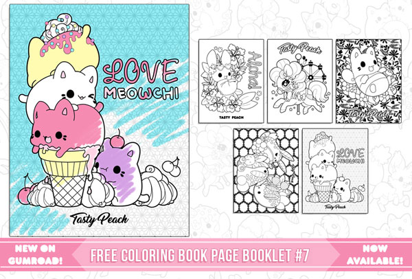 free kawaii colouring book