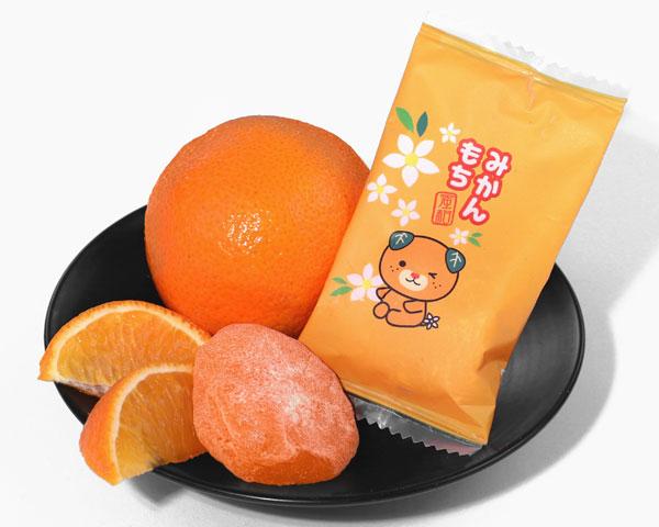 Japanese snacks mikan mochi