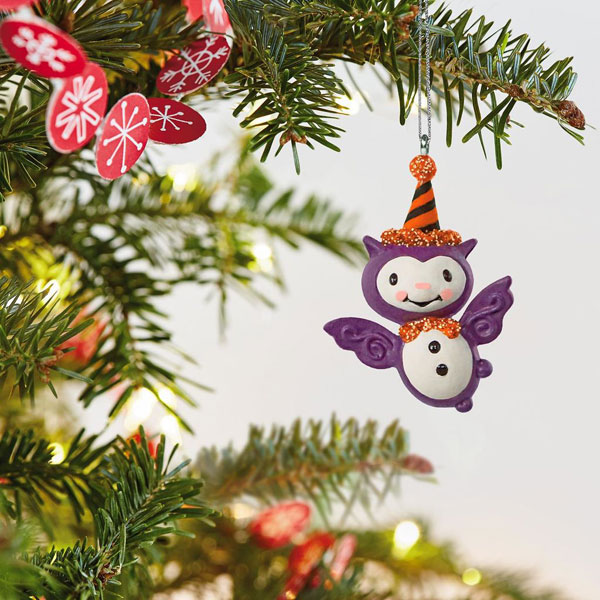 Halloween tree bat ornament