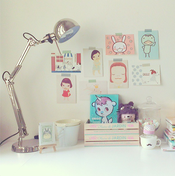 My desk and wall of inspiration