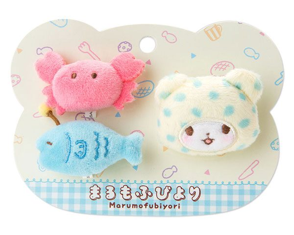 Marumofubiyori plush pins