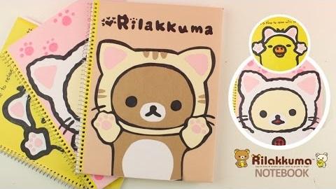 Neko Rilakkuma notebook covers DIY