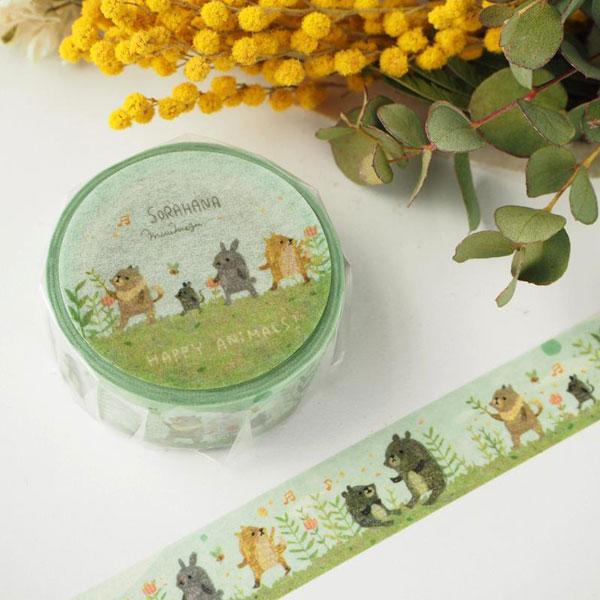 forest animals kawaii washi tape