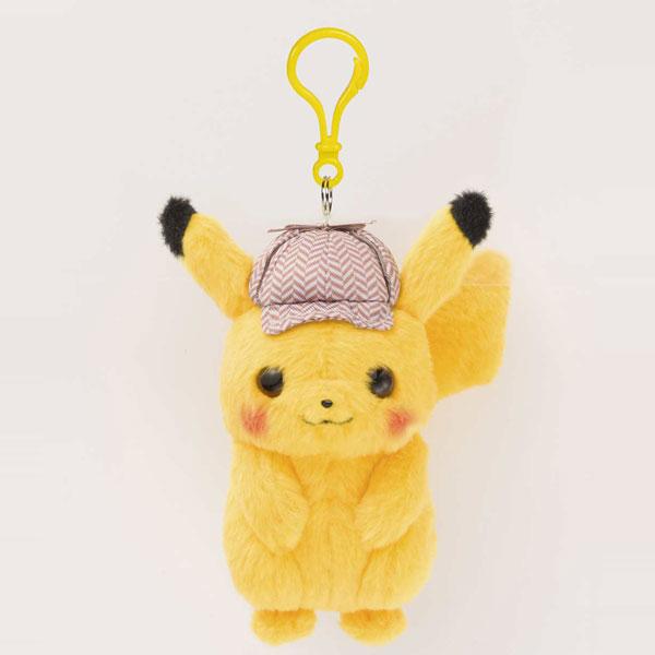 Detective Pikachu plush keychain