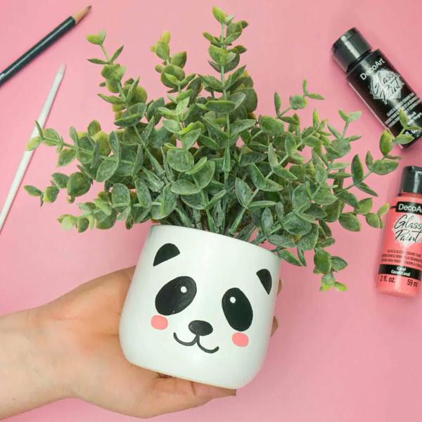 kawaii Panda DIY planter