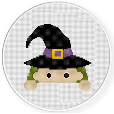 Halloween cross stitch patterns - witch
