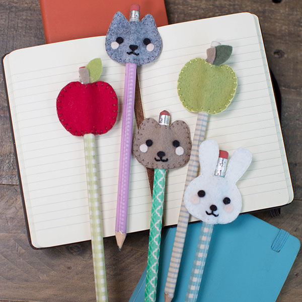 kawaii pencil toppers felt sewing pattern