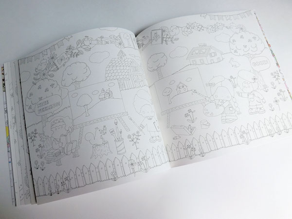 Smile! Sanrio Characters Coloring Book