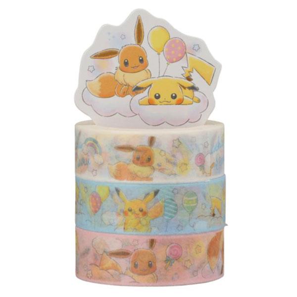 Pikachu & Eevee kawaii washi tape