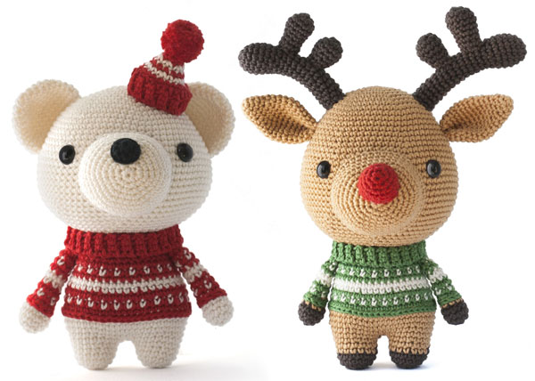 polar bear and reindeer amigirumi patterns
