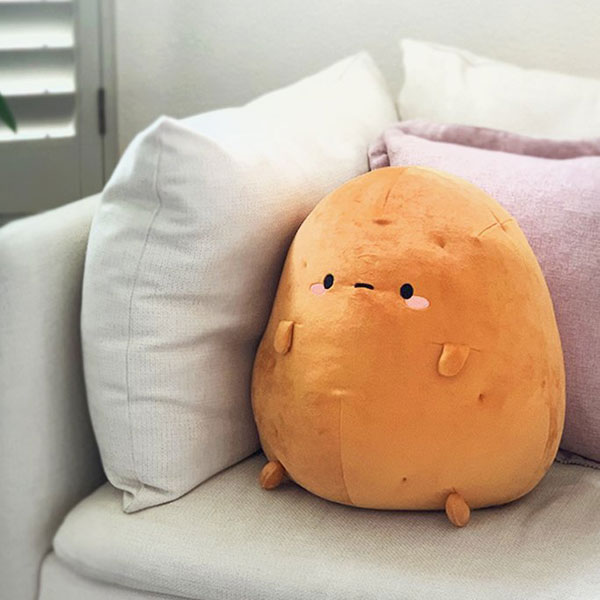kawaii couch potato plush