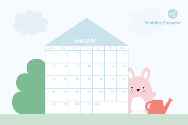 Free 2019 Printable Calendars - Noodoll