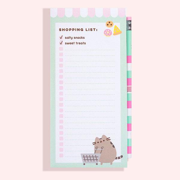 Pusheen shopping list notepad