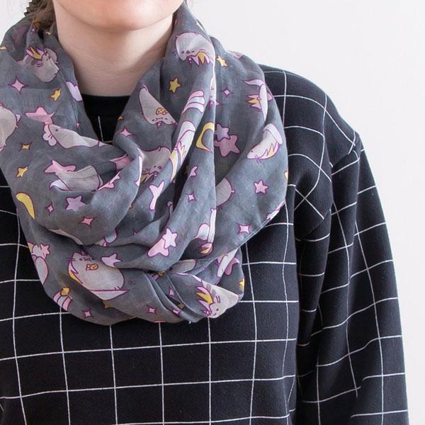 pusheen kawaii scarf