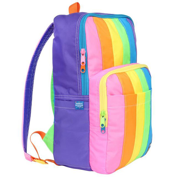 rainbow stripe backpack