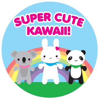 super cute kawaii logo